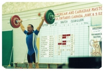 Doug Briggs Pan American Masters Weightlifting Champion